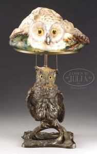 Rare Pairpoint puffy owl lamp