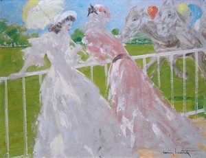 Icart oil painting of horse racing